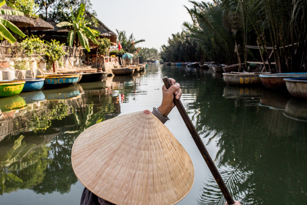 Hoi An Cooking Class, Cruise Trip, Rice Paper Making and Basket Boat Riding